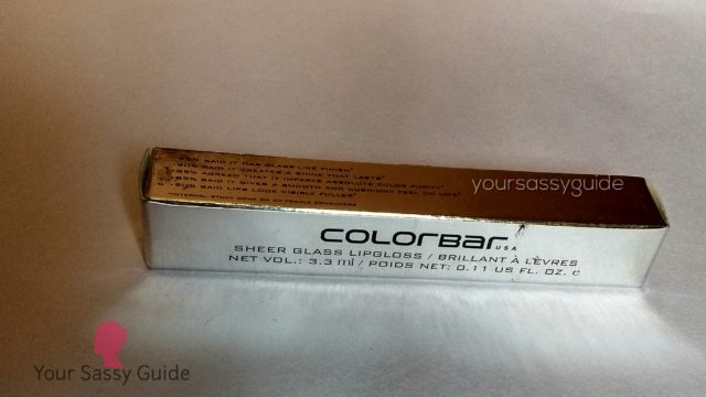 Colorbar Sheer Glass Lip Gloss - 07 Coral Embrace