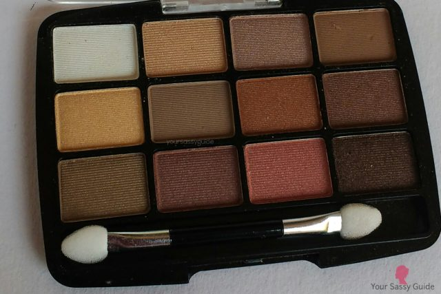 L.A. Colors 12 Color Eyeshadow Palette BEP421 Traditional