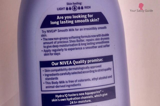 Nivea Smooth Milk Body Lotion with Shea Butter