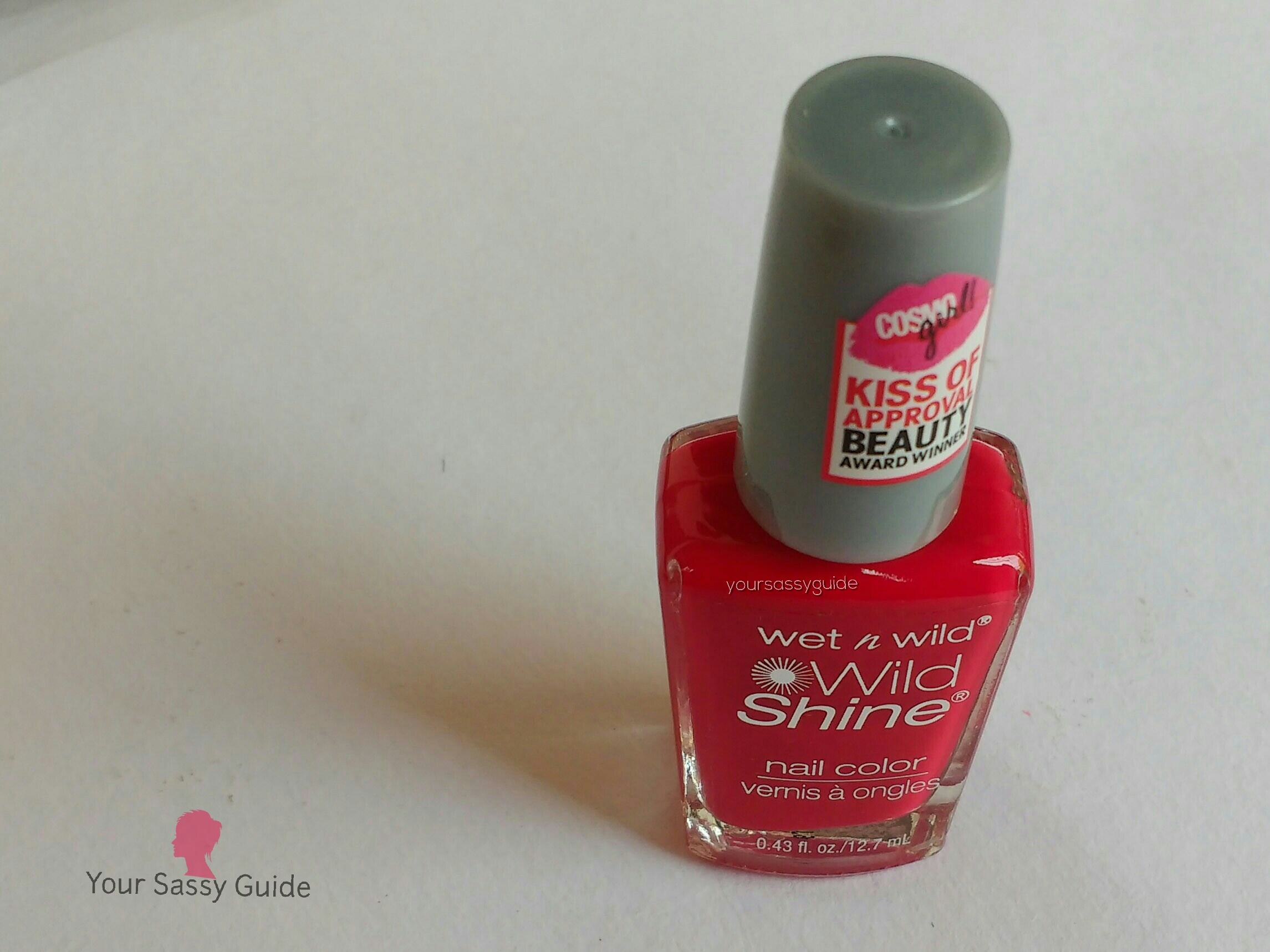 Wet n Wild Wild Shine Nail Color, C414A Red Red