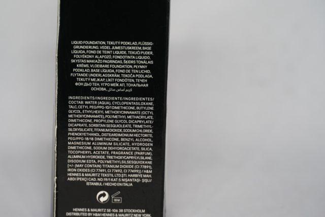 H&M All-day Liquid Foundation Flawless Finish- Warm Ivory